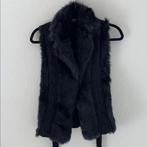 Faux Fur/Knit Vest